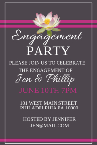 Customizable Design Templates for Engagement Party | PosterMyWall