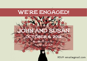 Engagement Party Invitation Briefkaart template