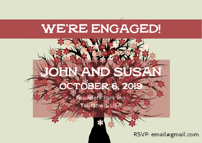 Engagement Party Invitation Template | PosterMyWall