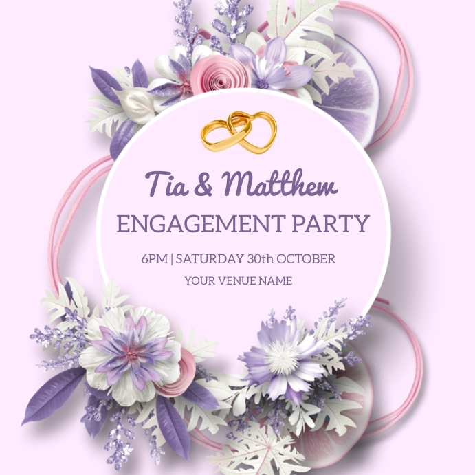 Engagement Party Poster template