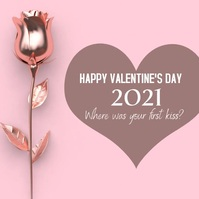 Engaging Valentines Day Social Media Ad Instagram-bericht template