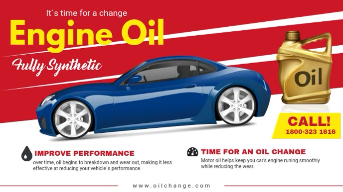 Engine Oil Change and Maintaince Service Ad