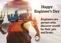 Engineer's day Kartu Pos template