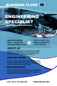 Engineering flyer,small business flyer