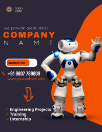 ENGINEERING PROJECTS, INTERNSHIP, TRAINING Flyer (US Letter) template
