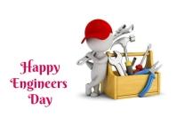 engineers day Kartu Pos template