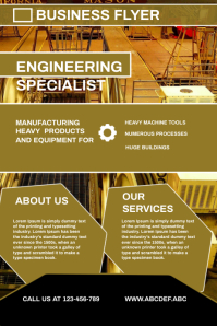 Enginering flyer, small business flyer