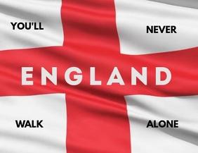ENGLAND FLAG BANNER SOCCER FANS Pamflet (VSA Brief) template