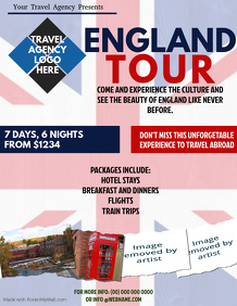 England Tour Packages Flyer Template