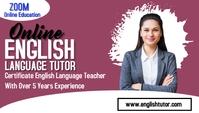 English class Carte de visite template