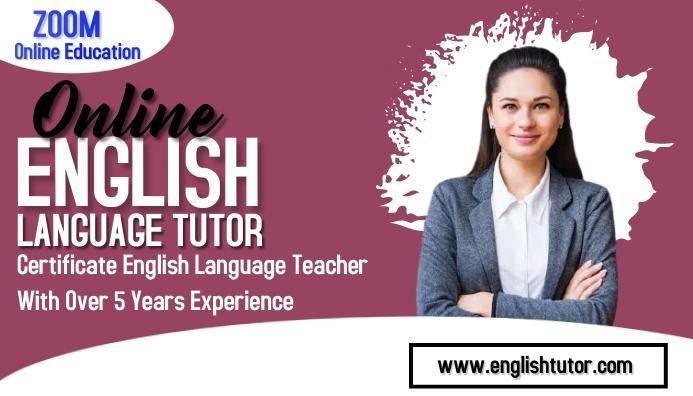 English class Visitkort template