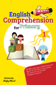 English Comprehension Poster template
