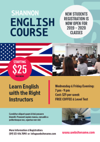 English Course Flyer