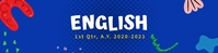 English Google Classroom Banner template