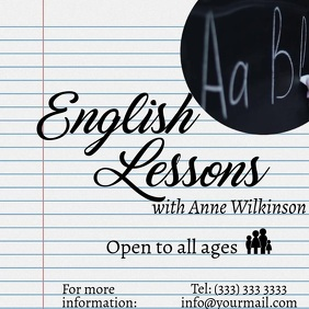 English Lessons Notebook Video Ad Instagram