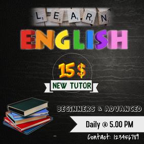 English Tutor/Tuition flyers