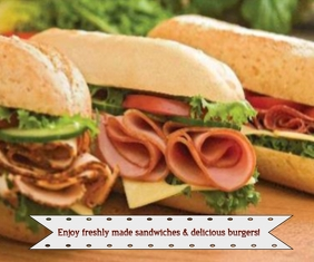 enjoy freshly made sandwiches