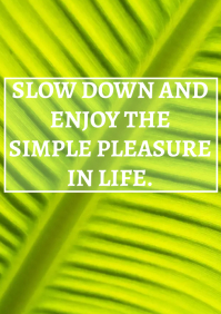 ENJOY LIFE QUOTE TEMPLATE A4