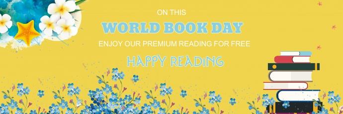 Enjoy premium reading for free book day speci Cabeçalho de e-mail template