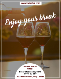 enjoy your break happy hour flyer advertising