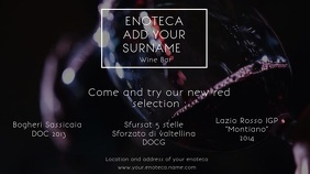 Enoteca wine bar Digital display flyer template