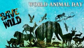World animal day,earth day,event Koptekst blog template