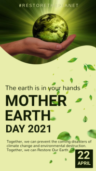 Environment,earth day,event Instagram Story template