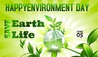 Environment Day Etiqueta template