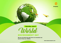 Environment Day Postal template