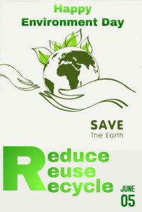 Environment day Tumblr Graphic template