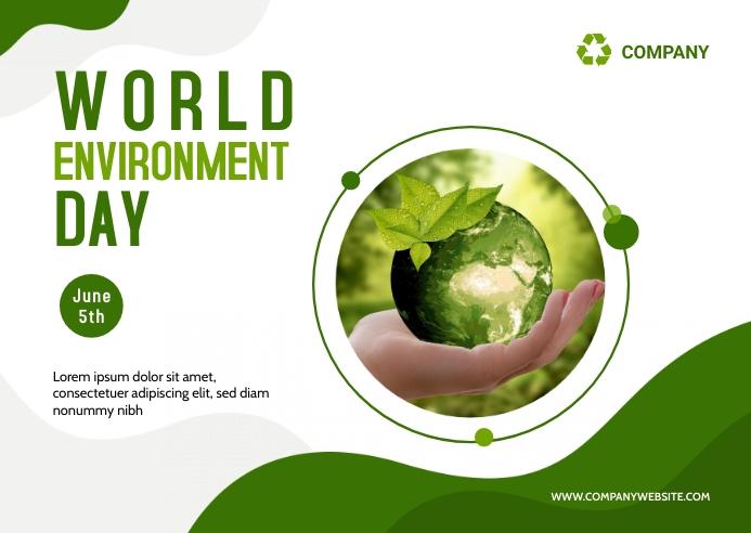 Environment Day Postcard Design template