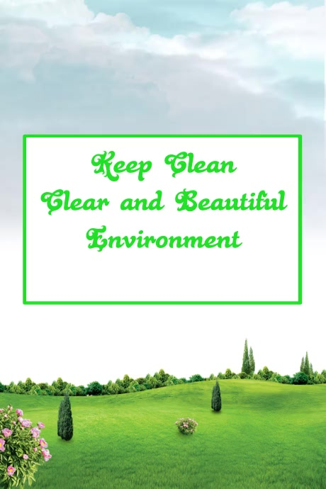 environment flyer template,pollution free environment poster