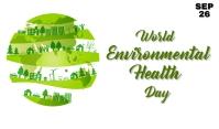 Environment Health Day Etykietka doczepna template