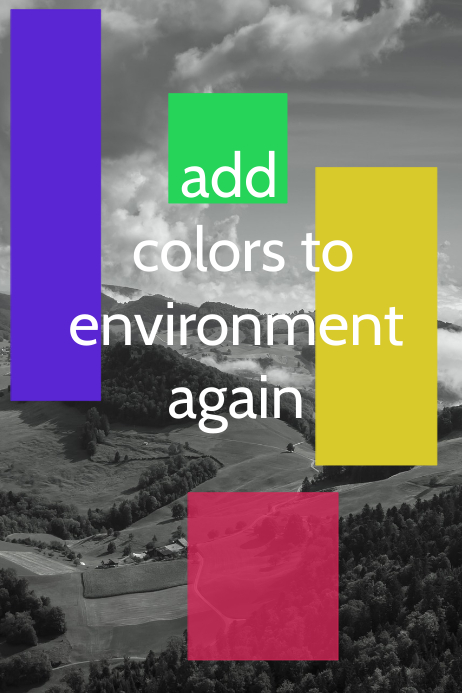 environment poster design template