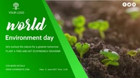 Environment social media video post YouTube Channel Cover Photo template