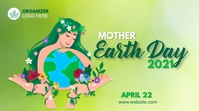Environmental ads earth day Twitter Post template