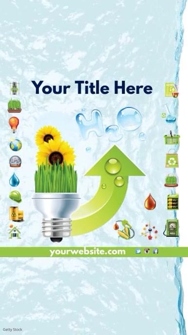 Environmental Campaign Instagram Video Tampilan Digital (9:16) template