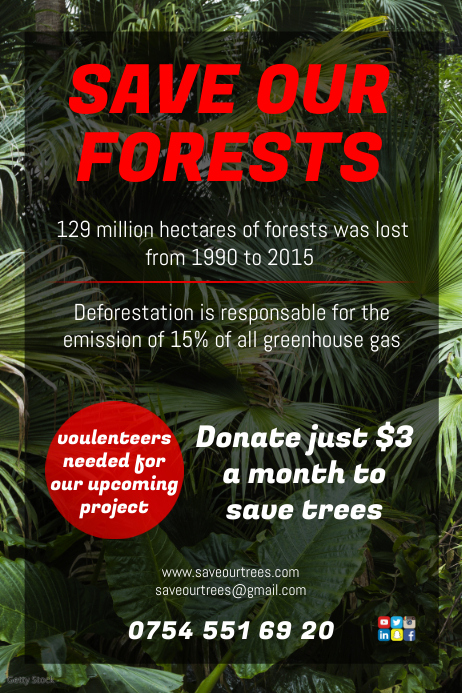 Environmental Campaign Poster Plakat template