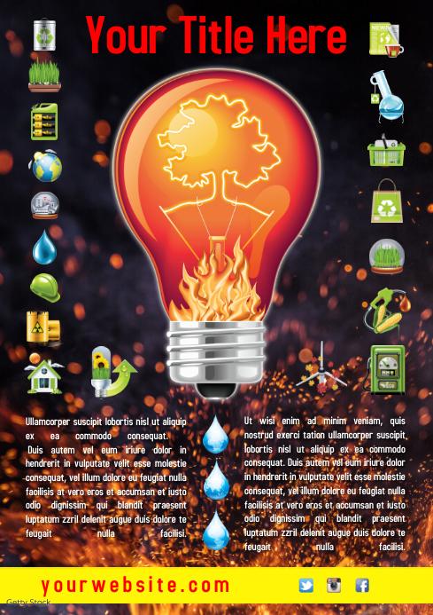 Environmental Flyer Template