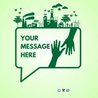 Environmental Poster Template 方形(1:1)
