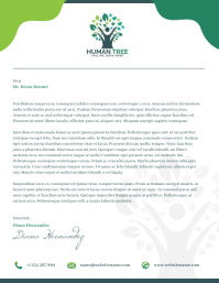 Environmental Themed Letterhead Flyer (US Letter) template
