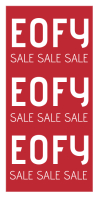 EOFY Sale Poster Roll Up Banner 3' × 6' template