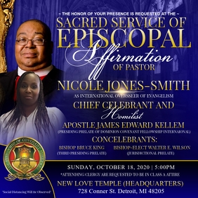 Episcopal Consecration flyer Instagram Post template