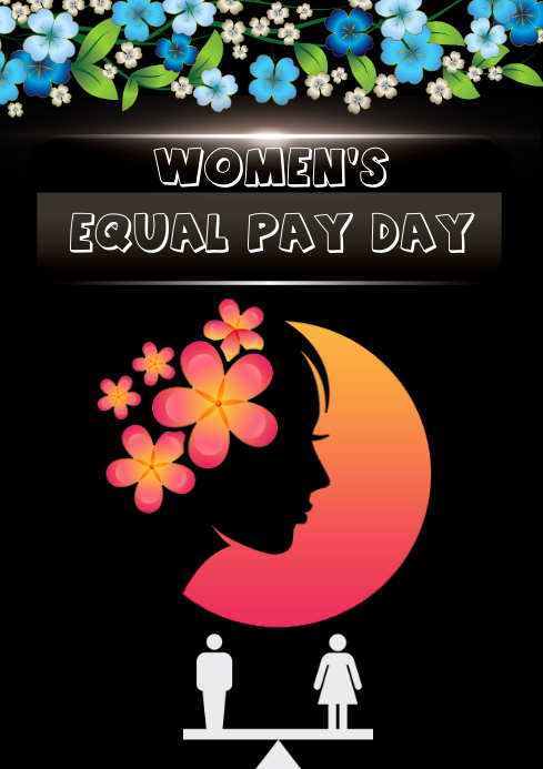 EQUAL PAY DAY A4 template