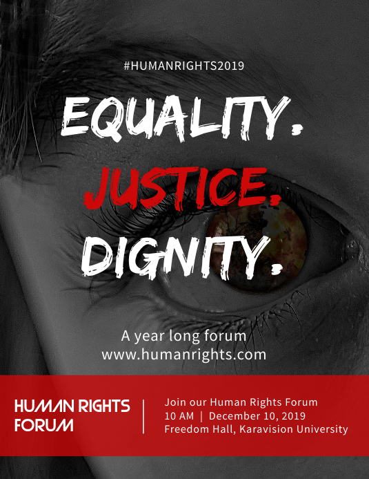 Equality. Justice. Dignity Flyer