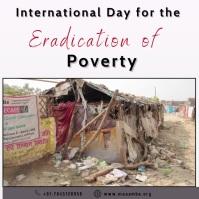 Eradication of Poverty Instagram Post template