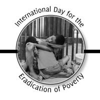Eradication of Poverty Logo template