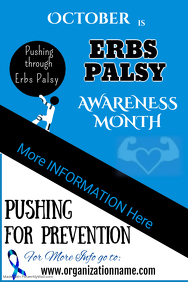Erbs Palsy Awareness Poster Template