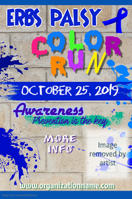 Erbs Palsy Color Run Poster