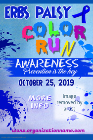 Erbs Palsy Color Run Poster